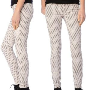 Splendid Dotted Printed Stretch Skinny Jeans 26